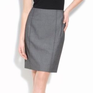 Halogen | Seamed Pencil Skirt Gray Size 12 NWT